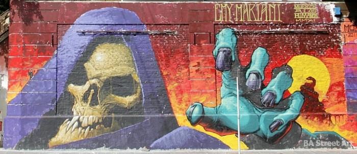 skeletor graffiti Emy Mariani buenos aires meeting of styles buenosairesstreetart.com