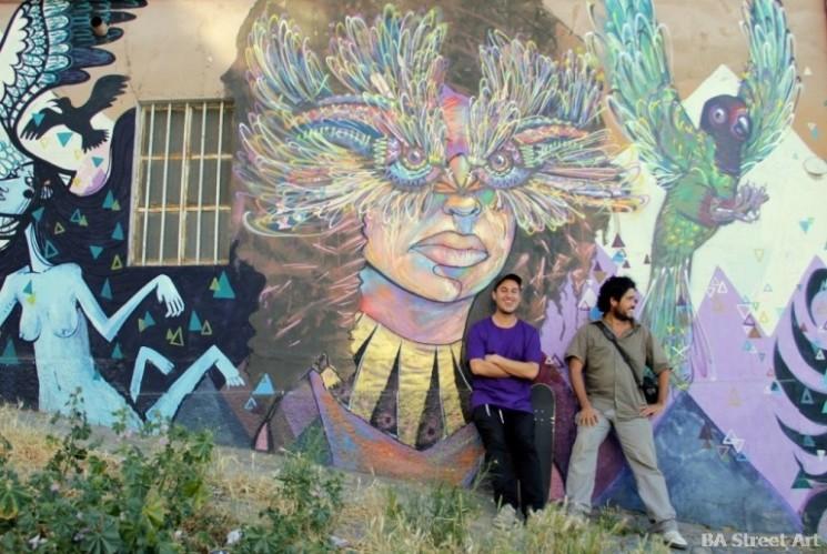 street artists La Robot de Madera Charquipunk Valparaiso chile buenosairesstreetart.com