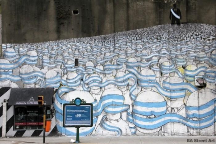 blu buenos aires mural street art tour flag argentina graffiti buenosairesstreetart.com