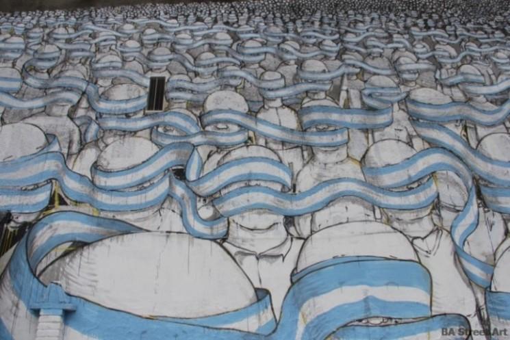blu argentina flag mural street art tour buenos aires