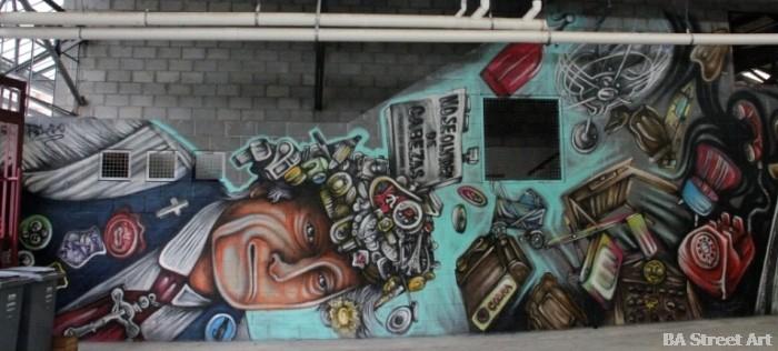 mercado de pulgas colegiales buenos aires graffiti tour steet art tour mercado de pulgas colegiales pelado alfredo segatori buenosariesstreetart.com