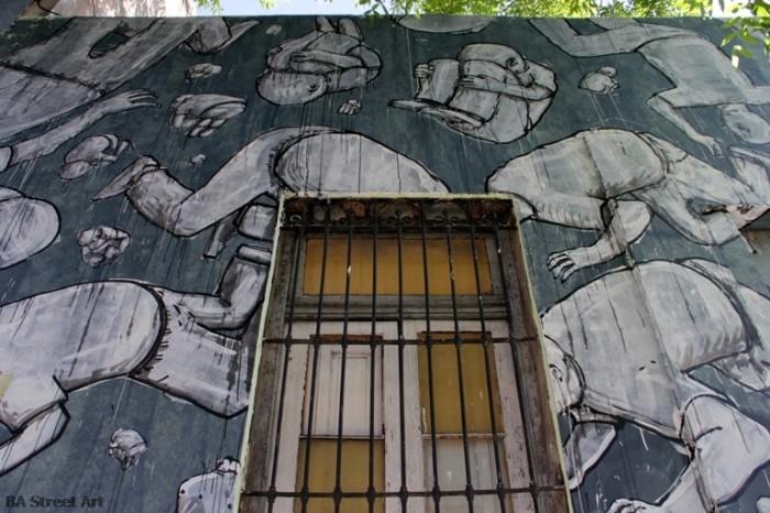 Blu buenos aires graffiti tour  murales de Blu argentina © BA street art murales de Blu buenosairesstreetart.com
