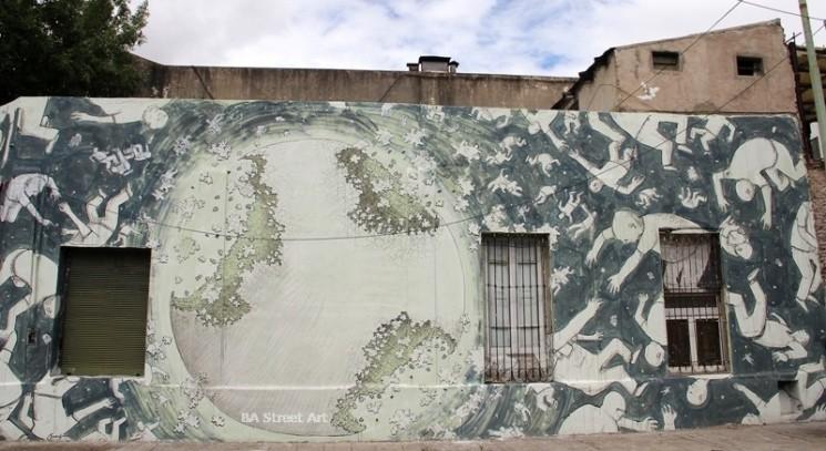 blu mural buenos aires graffiti tour street art planet people buenosairesstreetart.com BA Street Art