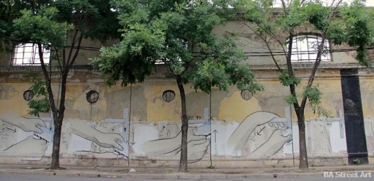 escif blu mural españa argentina italia candado puerta door lock buenos aires buenosairesstreetart.com