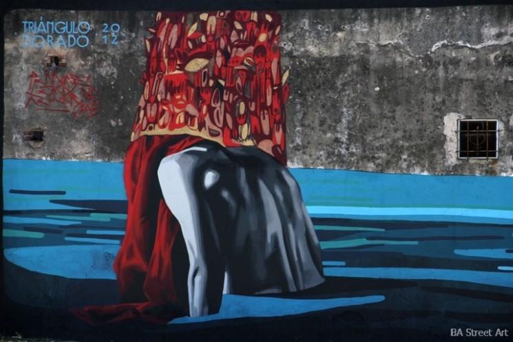 water mural landscape figures gustav klimt egon schiele buenos aires argentina