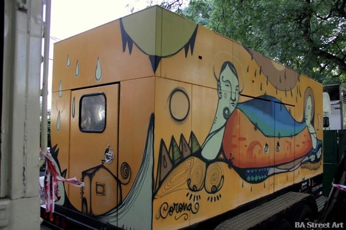 street artist corona sullair buenos aires buenosairesstreetart.com BA Street Art Tours