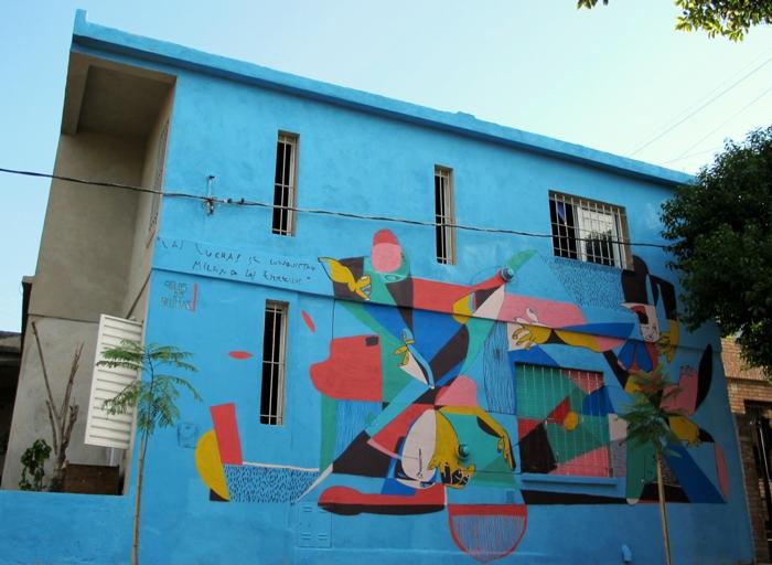 pelos de plumas carlos fuentealba mural cordoba street art buenosairesstreetartart.com