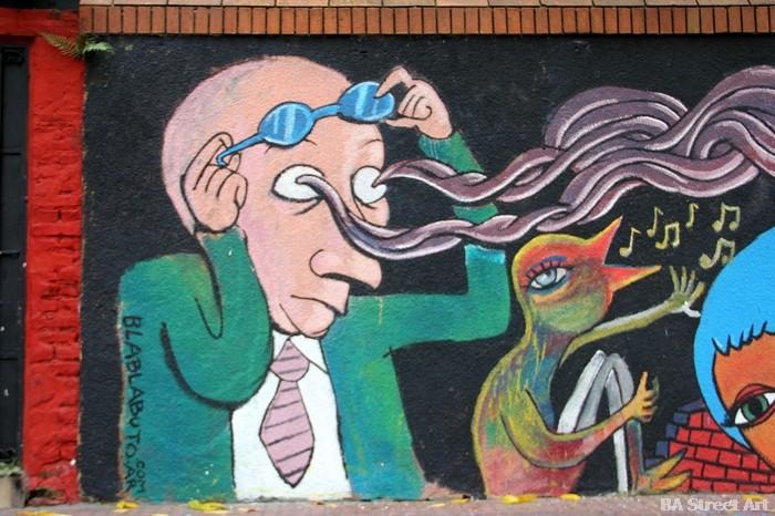 Bla Bla Buto Buscatus mural buenos aires street art buenosairesstreetart.com