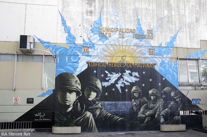 Martin Ron mural provincia de Buenos Aires los caidos de las Malvinas buenosairesstreet art.com BA Street Art Tours