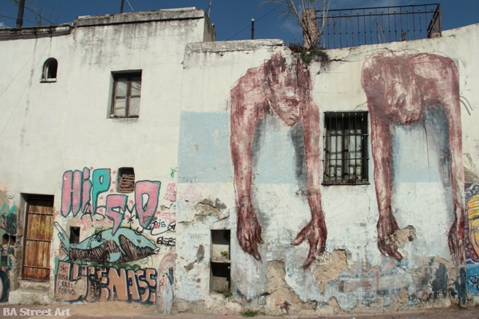 tiravy street artist french frances buenos aires francia mural san telmo buenosairesstreetart.com