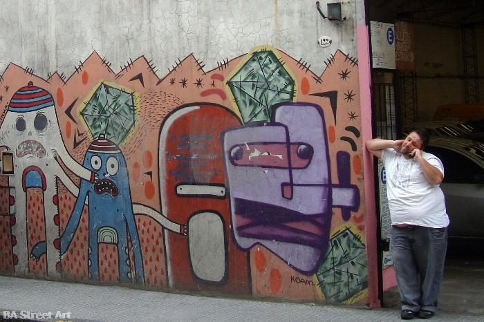 buenos aires graffiti tour street cobrinha koam buenosairesstreetart.com BA Street Art