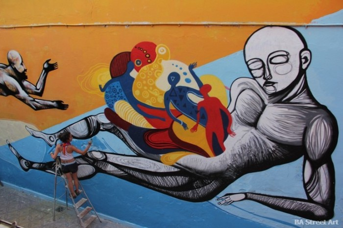 buenos aires graffiti tour cuore ene ene © BA Street Art graffiti buenosairesstreetart.com