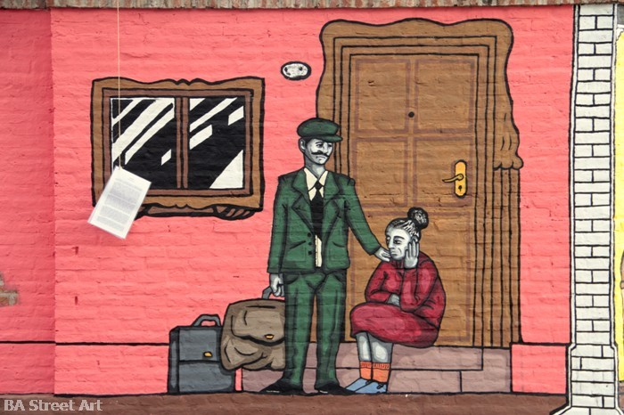 el bestuario julio cortazar mural Eduardo Castles y Juan Solaegui
