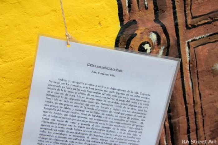 el bestuario julio cortazar mural carta a una señora en Paris 1951