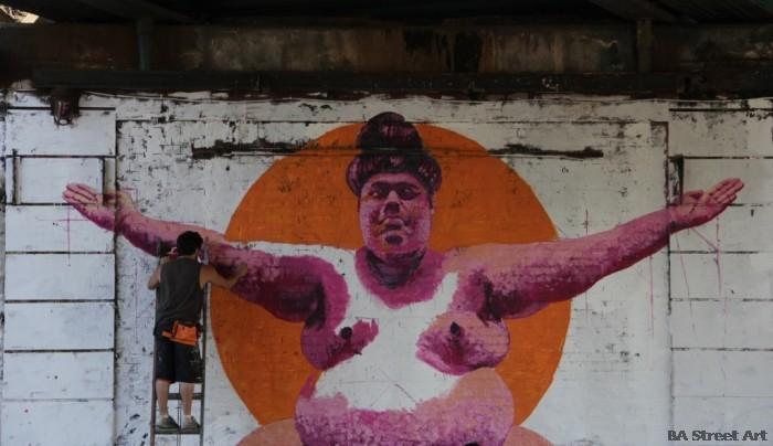 martin ron muralista tres de febrero buenos aires street art murales buenosairesstreeetart.com