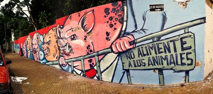 paraguay president fernando lugo politicos cerdos graffiti coup oz montania buenosairesstreetart.com