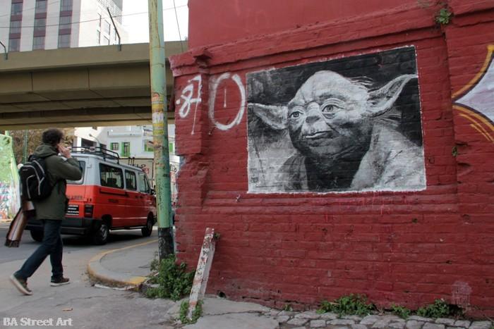 yoda graffiti buenos aires star wars street art buenosairesstreetart.com