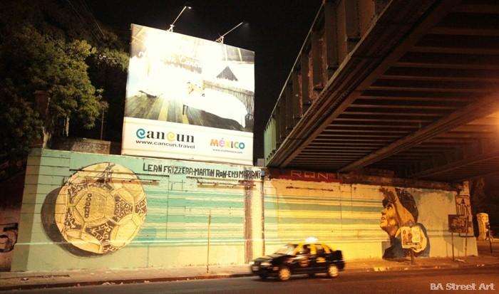 maradona hand of god mural lean frizzera emy mariani martin ron buenos aires street art