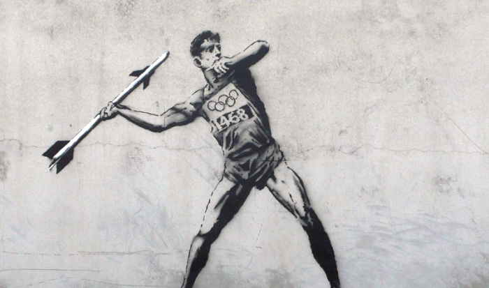banksy olympic mural london