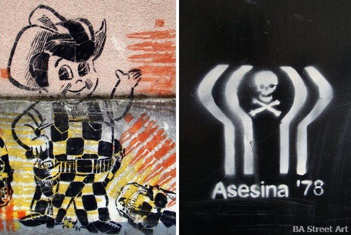 world cup 1978 argentina death muerte asesina '78 buenos aires graffiti buenosairesstreetart.com