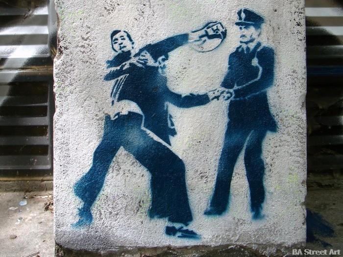 dictadura militar argentina dictatorship graffiti secuestro buenosairesstreetart.com