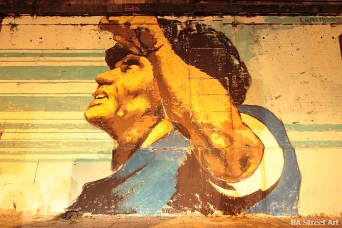 maradona graffiti buenos aires street art mural lean frizzera martin ron emy mariani buenosairestreetart.com