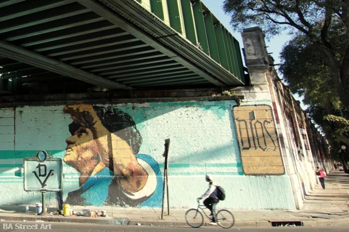 maradona mural lean frizzera martin ron emy mariani buenos aires street art tour buenosairestreetart.com