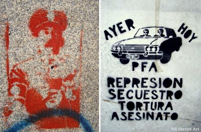 represion secuestro tortura asesinato dictadura graffiti buenos aires buenosairesstreetart.com