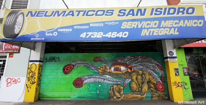 monster graffiti buenos aires cyclops street art tour argentina bater buenosairesstreetart.com