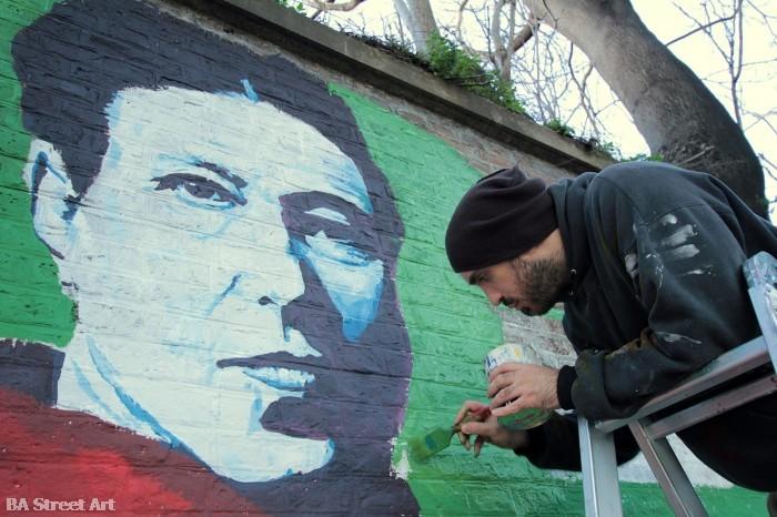 simone de beauvoir portrait street art buenos aires buenosairesstreetart.com