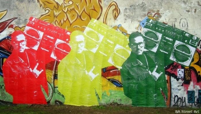 bs as graffiti tour buenos aires pegatina paste up wheat paste street art buenosairesstreetart.com