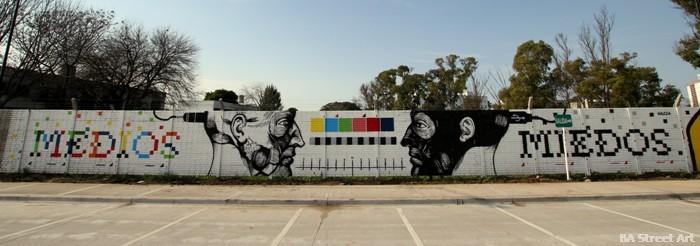 buenos aires graffiti tour tecnopolis nazza stencil BA Street Art buenosairesstreetart.com