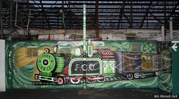 ferro carril oeste club de futbol tren mural buenos aires street art buenosairesstreetart.com