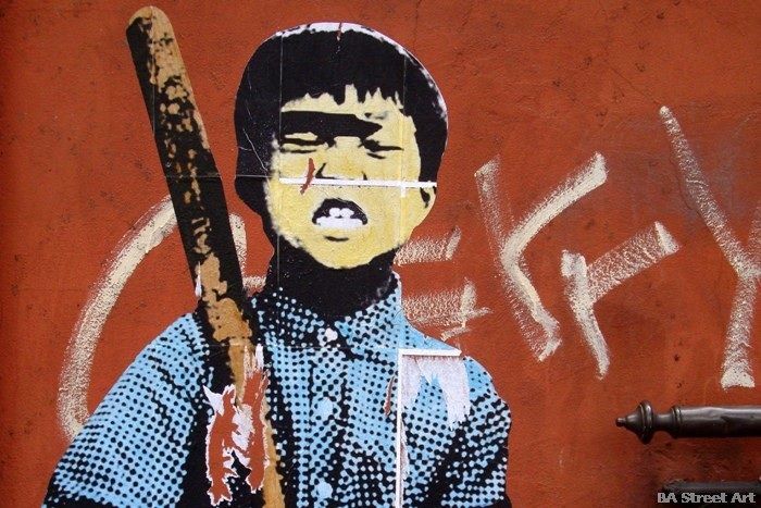 graffiti tour buenos aires paste up stencil BA Street Art Walking Tours buenosairesstreetart.com