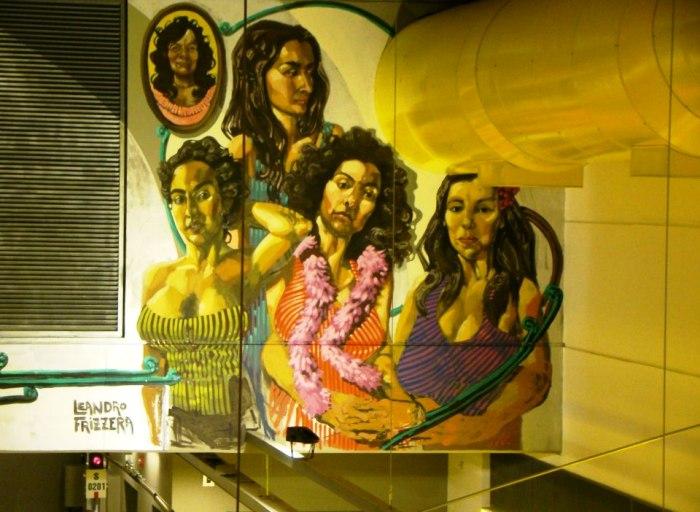 hospitales linea H murales subte lean frizzera martin ron parque patricios buenos aires