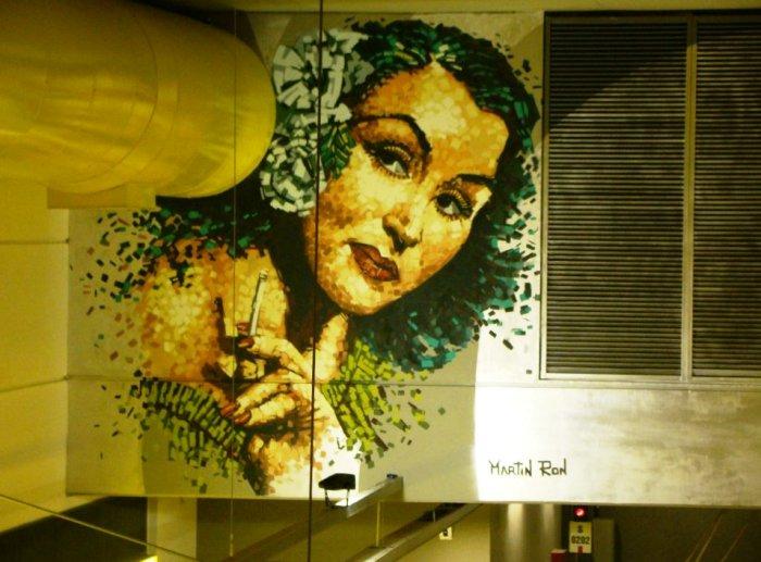 murales linea h subte lean frizzera martin ron parque patricios buenos aires