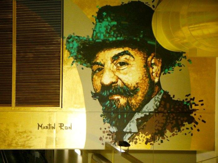 portrait alfredo segatori subte linea H murales hospitales subte martin ron Angel Villoldo parque patricios buenos aires