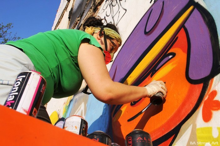 buenos aires graffiti tour street art cof animalito land buenosairesstreetart.com pintando