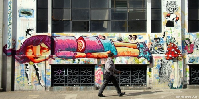 buenos aires street art BA buenosairesstreetart.com stencil land oz montania