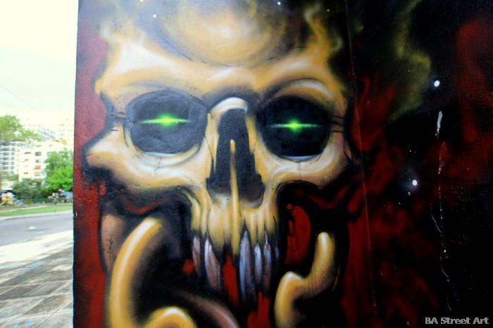 emy mariani muerte skeletor graffiti buenos aires street art buenosairesstreetart.com