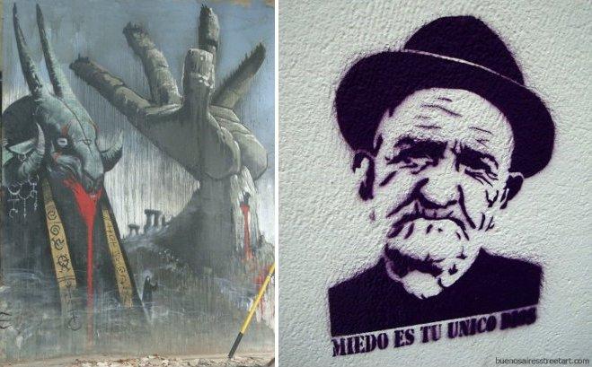 freddy kreuger graffiti emy mariani buenos aires murales estenciles
