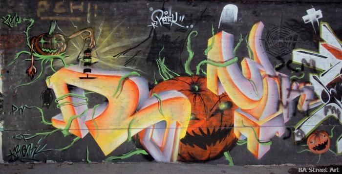 halloween graffiti pumpkin arte urbano buenos aires buenosairesstreetart.com