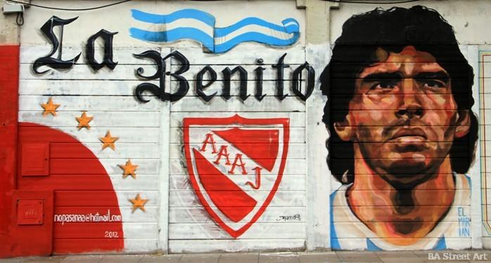 maradona mural argentinos juniors stadium buenos aires buenosairesstreetart.com
