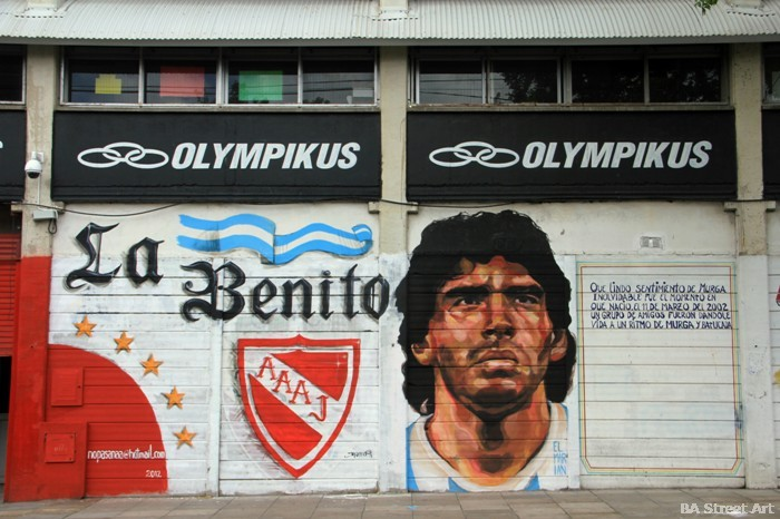 maradona mural cancha de argentinos juniors buenos aires buenosairesstreetart.com