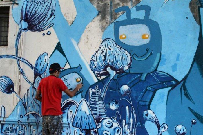 zig zag la plata graffiti buenos aires street art oz montania