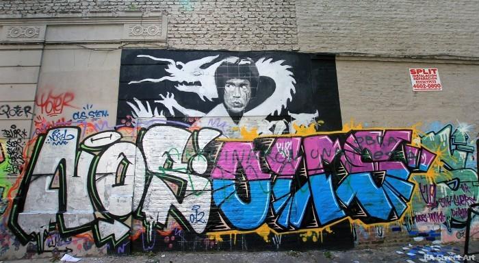 bruce lee graffiti enter the dragon buenos aires street art tour buenosairesstreetart.com